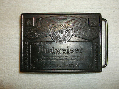 NEW Budweiser Solid Brass Belt Buckle