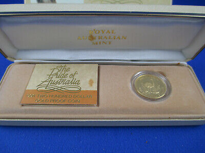 1991 Two Hundred Dollar Gold Proof Coin. The Pride Of Australia - Emu -