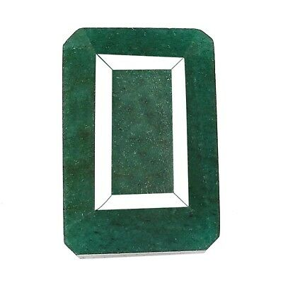 206.10CT Natural Green Emerald Octagon Shape Loose Gemstone With Certificate
