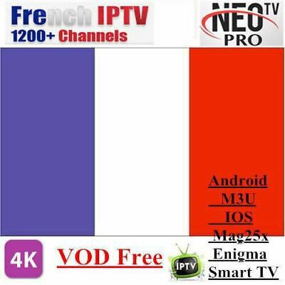 Neotv pro French Iptv subscription Live TV VOD Channels Arabic UK Europe Oneyear