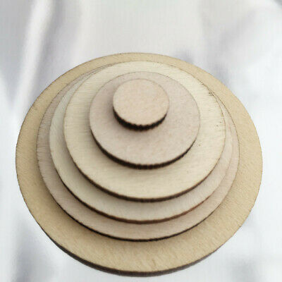 50/100 Pcs Unfinished Wooden Round Circle Discs Embellishment For Art Craft