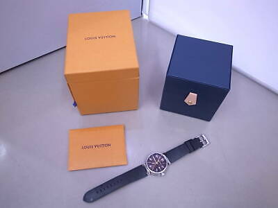 9dd05a40423c LOUIS VUITTON MENS Tambour In Black watch Q118f1 New Mint Condition ...