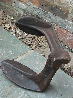 Vintage Antique Cobblers Shoemakers Iron Anvil Shoe Last Repair Tool Door Stop