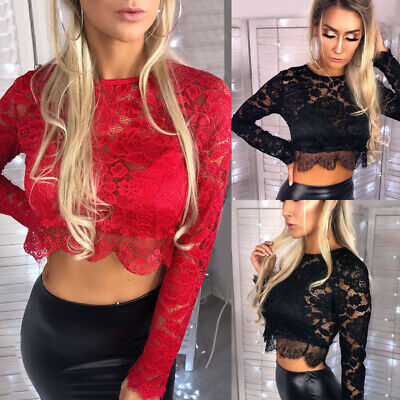 New Sexy Women Tassel Lace Beach Evening Party Clubwear Ladies Tights Crop Top