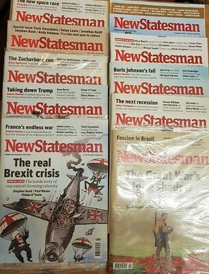New Statesman Magazine 19 Issues Lot Used/new Christmas Special 2018/ 19 latest