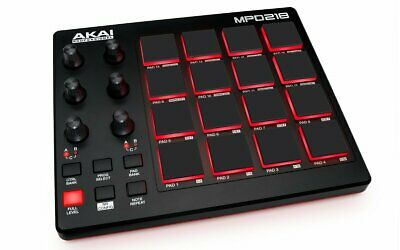 Akai Professional MPD218 | MIDI Drum Pad Controller with Software Download Packa