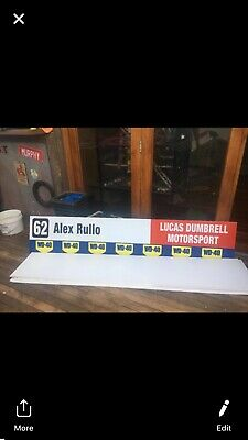 2018 PHILLIP ISLAND Alex Rullo  PIT BOARD V8 SUPERCARS