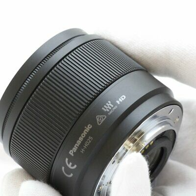 Panasonic Lumix G 25mm f/1.7 Lens ASPH.H-H025E-K F1.7 Black ES Bulk Box