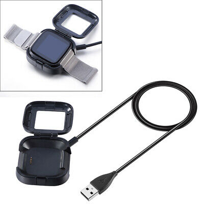 1M USB Charger Adapter Station Cradle Stand Dock For Fitbit Versa Smart watch