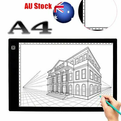 A4 LED Tracing Board Adjustable Brightness Drawing Pad Stencil Display Necessary
