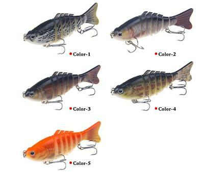 Minnow Crank Baits Bass 7 Segment Multi Jointed Fishing Lure Crankbaits Swimbait