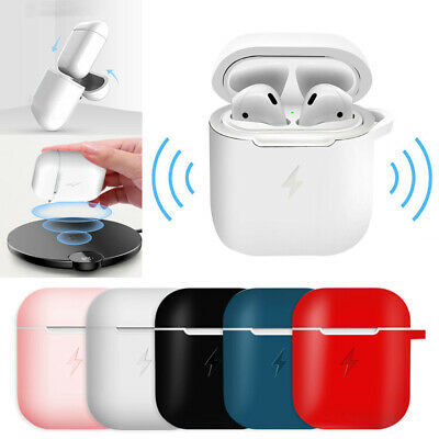 Apple AirPods Wireless Earbuds- White Genuine Airpod Charging Box silicone Case