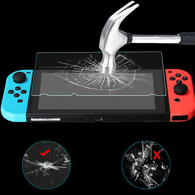 2pcs Tempered Glass Screen Protector ARC Edge Shockeproof For Nintendo Switch