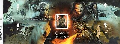 GAME of THRONES 2018 Stamp Mini Sheet Mint - WITH BARCODE MARGIN  **SALE**
