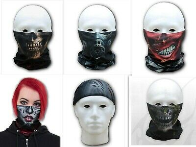 Spiral Motorcycle Bandanas Face Mask Scarf Neck Tube Gothic Punk Rock Women Men