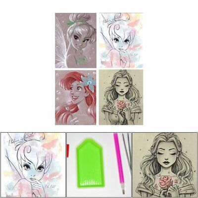 5D Diamond Painting Cross Stitch Sketched Drawing Disney Characters Cartoon Y1