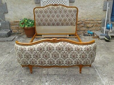 French antique vintage Louis XV style double bed