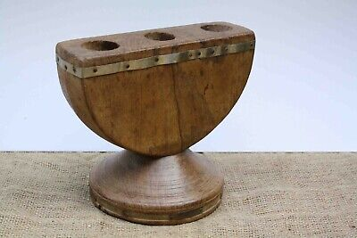 Wood seeder wood carved bases farming tools wooden candle stand wooden seeder