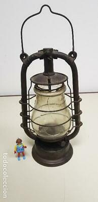419- Antiquisimo Quinque-Lampara-Farol Feuer Hand Made In Germany 42 Cms Altura