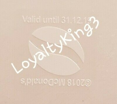 Mcdonalds Coffee / Hot Drinks Loyalty Stickers X 600 100 Cups Exp 31-12-19