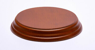 Wooden Display Plinth Stand : Round & Oval : Ornament, figurine, fossil, glass