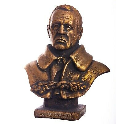 "4"" Franklin Roosevelt bust 32th President of the United Statest USA statue"