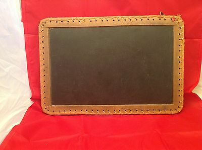 Antique School Slate Double Sided chalkboard Twined Edges Nice Very Old