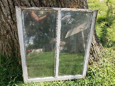 Vintage Antique Farmhouse Wood Sash Window Double Pane Crafts No Glass 28.25X32