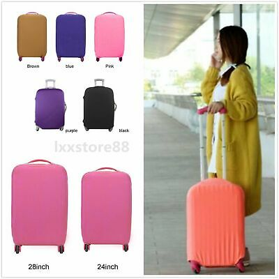 Travel High Elastic Solid Color Dust-proof Luggage Suitcase Protective Cover AKB