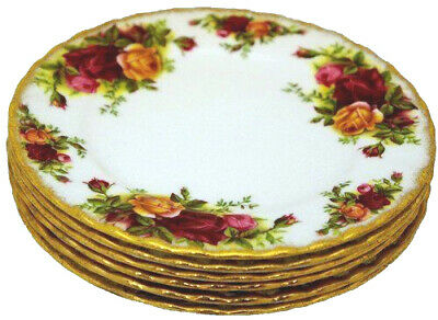 Royal Albert Old Country Roses - Set of 6 Side Plates - 1st's - Made in England.