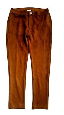 Girls Trousers ZARA Girl Slim Faux Suede Casual Pant 8-10y £19.99 Tribal Indian