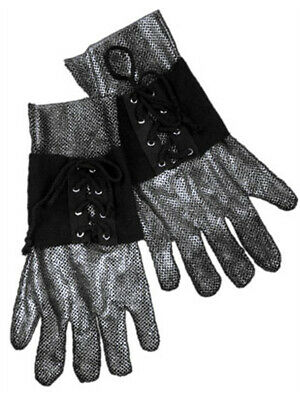 Adults Medieval Renaissance Knight Costume Chain Mail Gloves