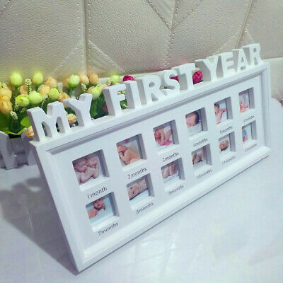 My First Year Photo Album 1-12 Months Baby's Photo Frame Photo Collage Gift