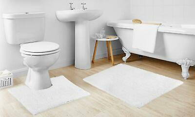 Bath Mat Set 2 Piece Non Slip Rubber Pedestal and Bath Mat Set Toilet Loop Bathroom Rug New Cream