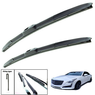 "Cadillac CTS 2008-on hybrid wiper blades set of front 22""19"""