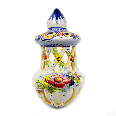 Hand-painted Traditional Portuguese Ceramic Vintage Decorative Wall Lantern #121