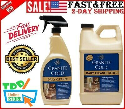 Granite Gold Daily Cleaner Spray And Refill Value Pack Streak Free Stone Clean
