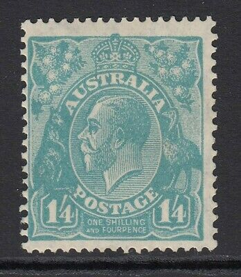 AUSTRALIA-1928 ¼ Turquoise Perf 13½ x 12½ Sg104 LIGHTLY  MOUNTED MINT