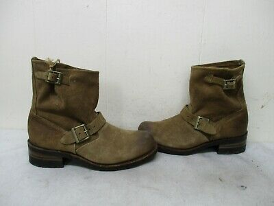 31aed2cc730 VINTAGE SHOE COMPANY Brown Suede Leather Engineer Biker Boots Womens Size 9  M