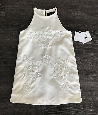7c82080ed2d Girls Cream Ivory White Dress Victoria Beckham Target NWT xs 4 5 Halter Lace