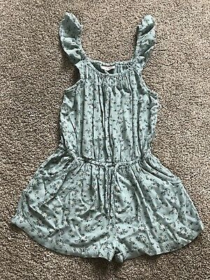 Next Girls Green Floral Playsuit Age 4yrs