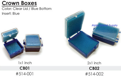"BesQual Dental Lab Crown Boxes with Foam Fillers 1""x1"" or 2""x1"" 250/Bg"