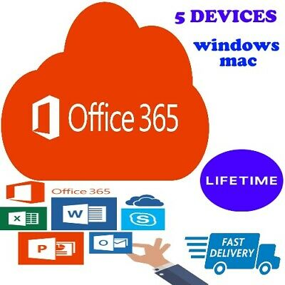 Microsoft Office 365 Lifetime Account  5 Devices 5Tb Windows/mac Fast Delivery