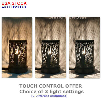 "8"" Metal Touch Lamps Forest Tree Shadow Bedside Desk Night Light Home Decoration"