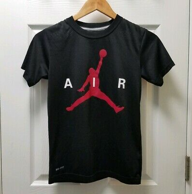 148c764dda3fa8 Nike Air Jordan Dri Fit Black Shirt T-Shirt Tee Boys Youth Size Medium 10