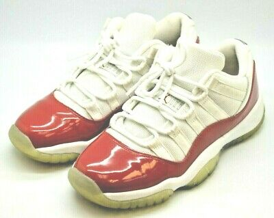 a9ff4ad7ff4f9d Nike Air Jordan 11 XI Retro Low GS White Varsity Red Cherry 528896 102 Size  4.5