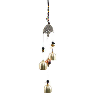 Home Happiness Retro Garden Hanging Metal Fan Wind Chimes Decor Gift LH