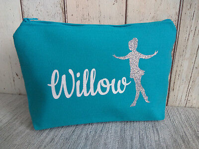 make up bag personalised ballerina with glitter name wash bag hairdressing pouch