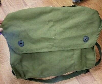 Finnish Army M61 Gas Mask Canvas Bag Sport Camping Mag Backpacking Military Pack