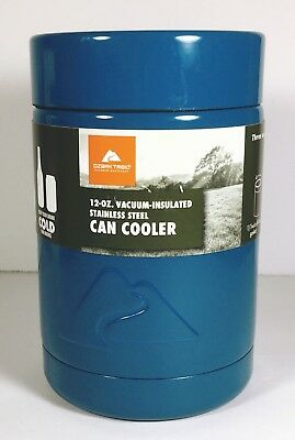 7cf76d1b0ad Ozark Trail Can Cooler-12 oz Vacuum Insulated Stainless Steel Blue Missing  Label